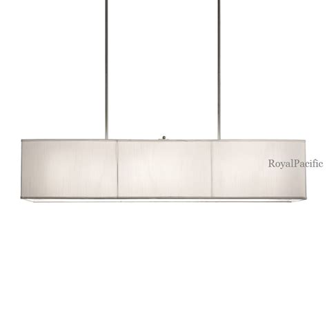 Rectangle Light Fixture 6 L 48 Quot Rectangular Shade Chandelier Pendant Lighting Fixture White Black Ebay