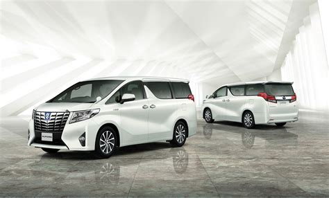toyota new toyota unveils new alphard and vellfire minivans in japan