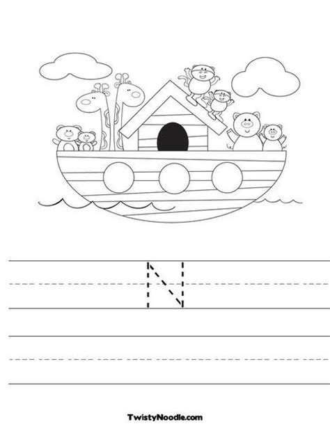 noah s up letter to n is for noah s ark worksheet customize it bible noah