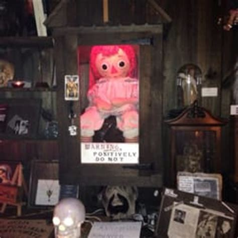annabelle doll location warren occult museum museums ct yelp