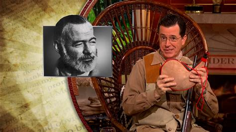 colbert report book colbert s book club ernest hemingway the colbert