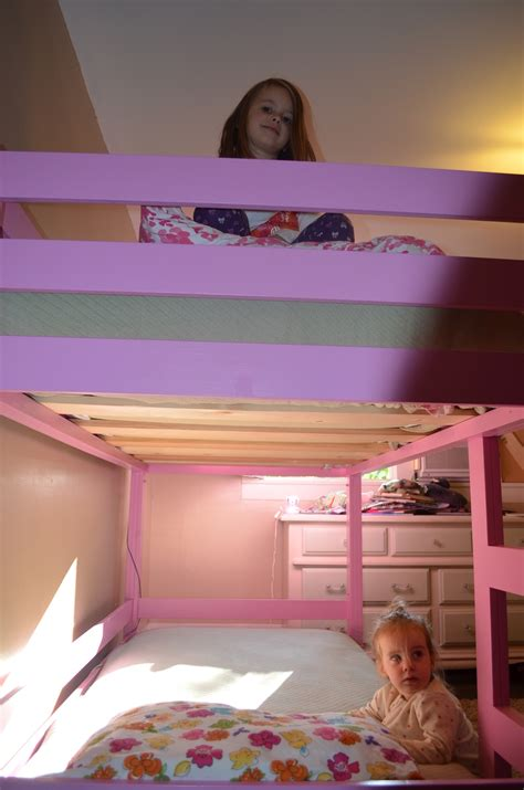 Girly Bunk Beds white girly bunk beds diy projects