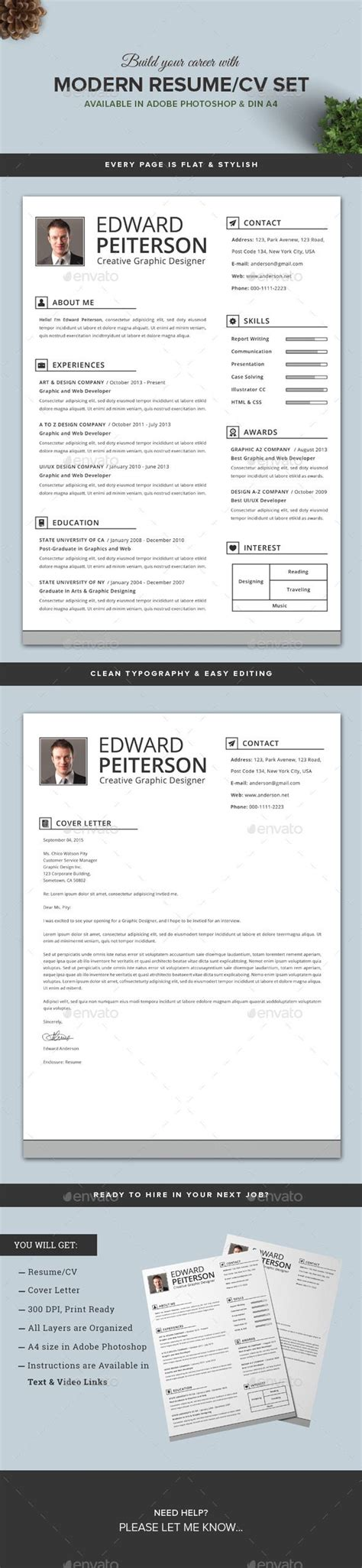 Resume Cv Graphicriver 1365 Best Images About Resume Design On Graphic Design Resume Free Resume And Cover