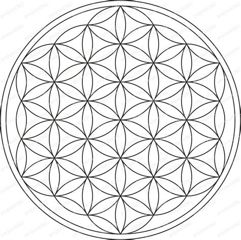flower pattern dxf flower of life ornament ivy nature frame cnc cut file
