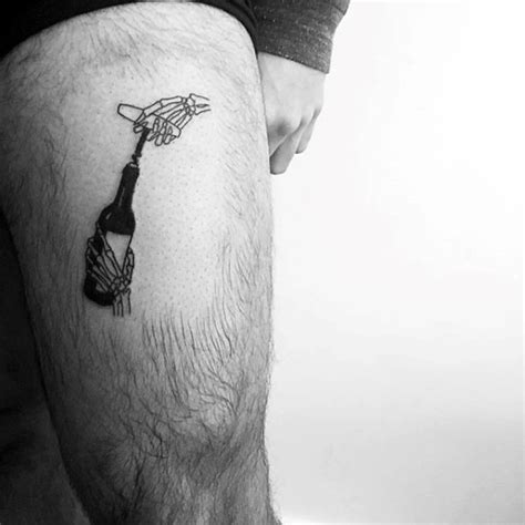 small leg tattoos for men 50 wine designs for vino ink ideas