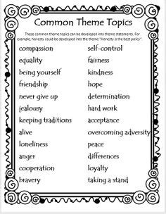 themes in literature 7th grade 18 best images of finding theme worksheets 4th grade 7th