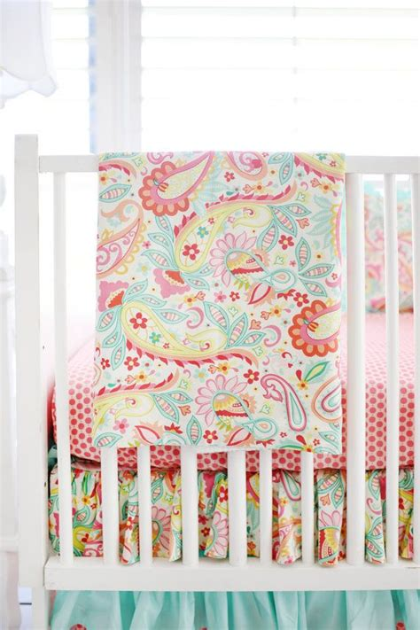 Pink Paisley Crib Bedding 10 Best Crib Bedding Images On Pinterest Baby Cribs Cots And Crib Bedding