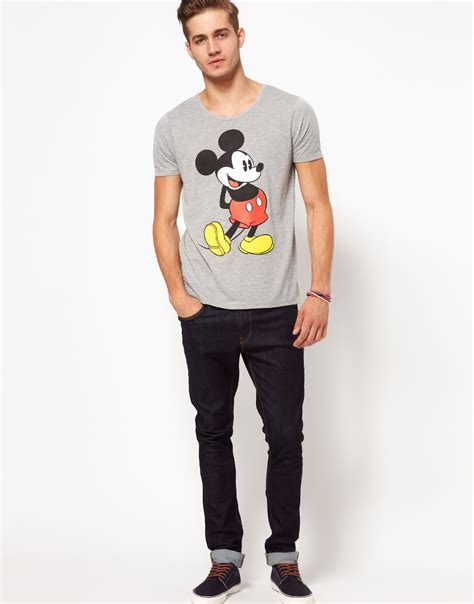 Eyeshield 21 18 Mens T Shirt grey mickey mouse print t shirt shopping s