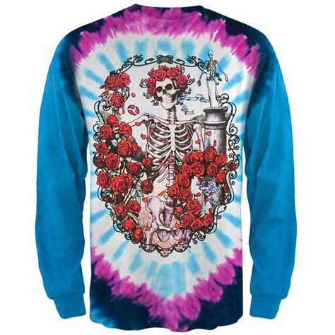 grateful dead 30th anniversary tie dye sleeve mens t