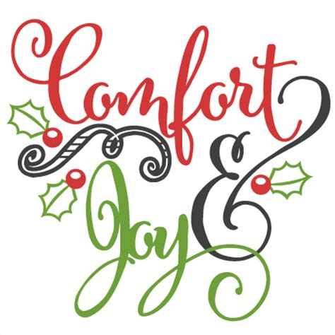 Comfort Joy Scrapbook Clip Art Christmas Cut Outs For