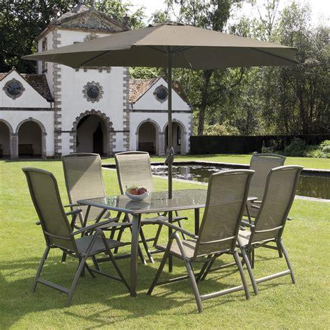 Garden Dining Set Sale Bronze 6 Seat 1 6m Rectangular Dining Set With