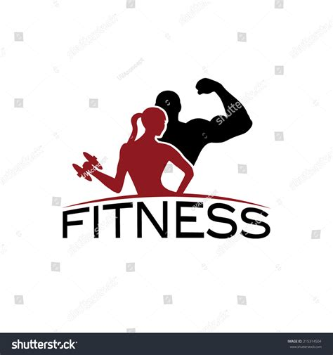 fitness logo templates fitness silhouette character vector stock vector