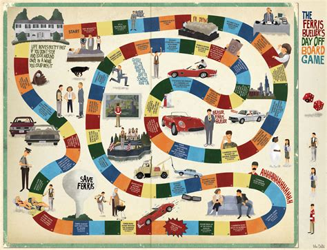 Home Design Board Games by Popped Culture Ferris Bueller S Day Off The Board Game