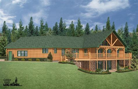 ranch style log homes log cabin ranch style home