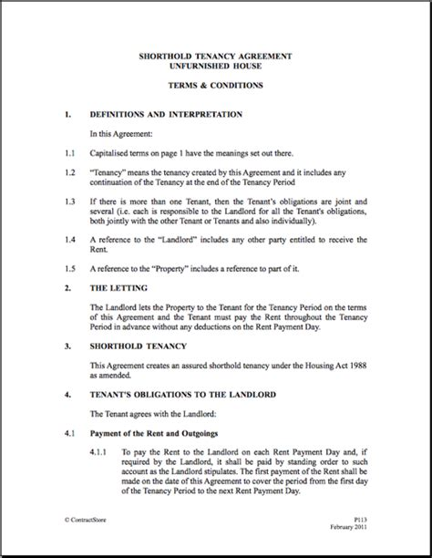 tennancy agreement template best photos of tenancy agreement form template free
