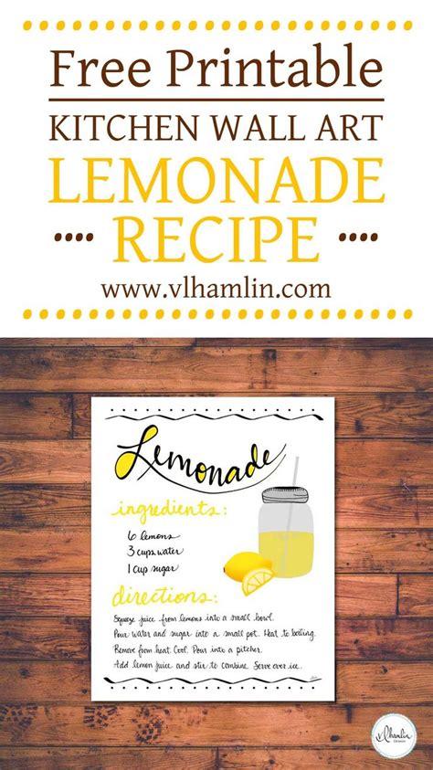 printable lemonade recipes 557 best free printables images on pinterest free