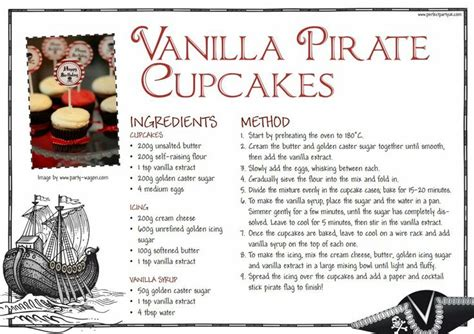 printable recipes uk pin by perfect party uk on pirate party ideas pinterest