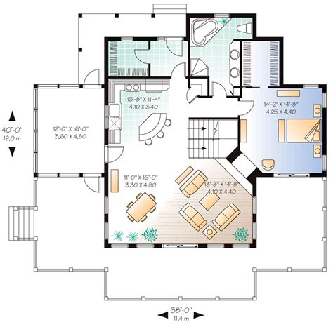 seaside house plan chp 35653 at coolhouseplans