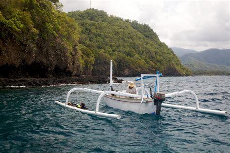 jukung boat to nusa penida tauchgebiet nusa penida