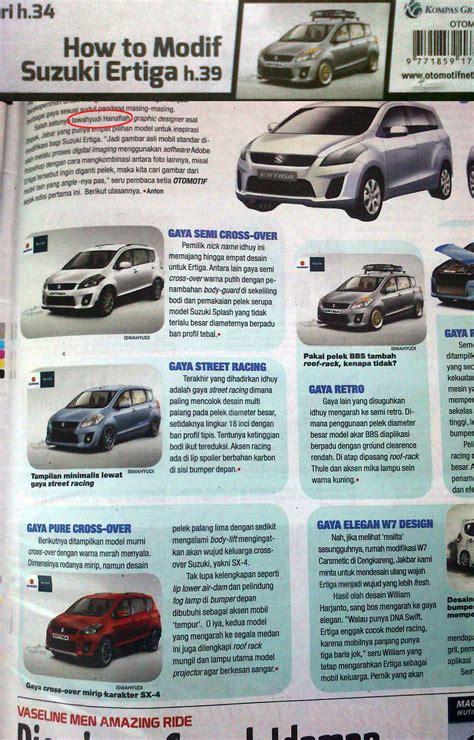 tabloid otomotif motor modifikasi suzuki ertiga di tabloid otomotif by idhuy on