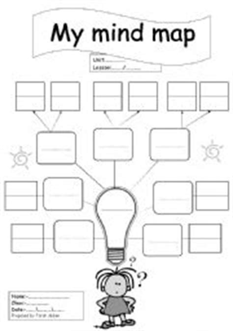 English Worksheets Blank Mind Map Blank Mind Map Template