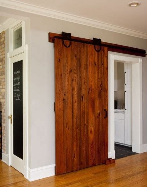 Barn Door In Kitchen Sliding Barn Door Contemporary Kitchen Chicago By Kipnis Architecture Planning