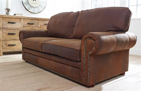 Studded Leather Sofa Hamilton Studded Leather Sofa Bed Chesterfield Company