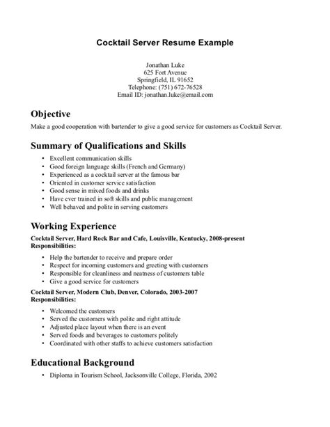 Resume Cover Letter Sles For Waitress 80 Waiter Resume Exles Exchange Server Resume Exles Dissertation Conclusion Ghostwriters