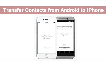 how to transfer from android to iphone without computer how to transfer contacts from android to iphone