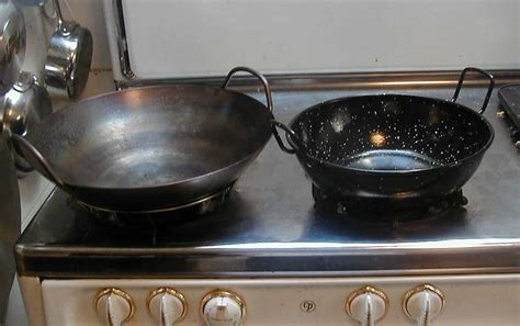 Wajan Stainless Steel file wok and karahi jpg wikimedia commons
