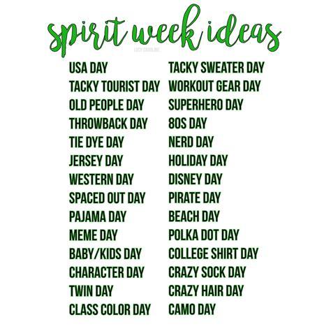 spirit day ideas 10 spirit day ideas for school