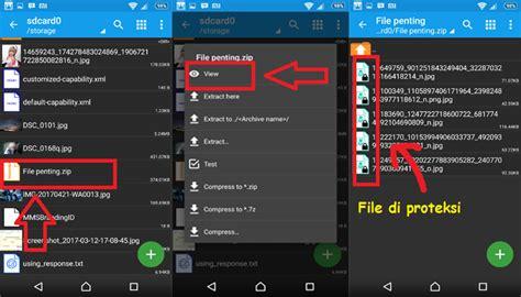 cara membuat file menjadi zip di android cara membuat folder zip dengan password di hp android