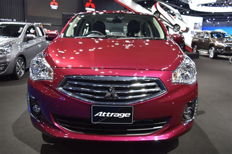 attrage mitsubishi 2017 mitsubishi attrage front at 2017 bangkok international