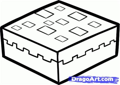 Minecraft Coloring Pages Cake | minecraft cake colouring pages minecraft party