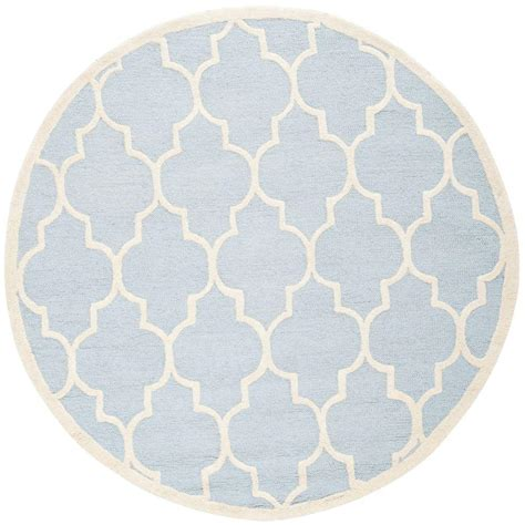 Safavieh Cambridge Light Blue Ivory 8 Ft X 8 Ft Round 8 Foot Area Rugs