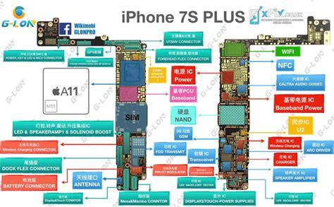 iphone pcb layout details for iphone 7s plus pcb diagram xfix