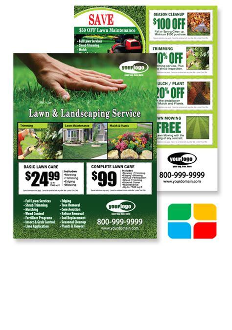 Lawn Maintenance Flyer Postcards Door Hangers Eddm And Business Cards Templates Service Lawn Care Door Hanger Template