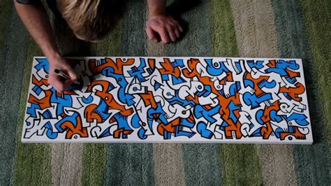 acrylic paint markers canvas abstract artwork paint pens on canvas
