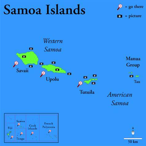 map of american samoa islands tsunami in the pacific earthquake of 8 3 degrees