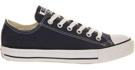 Sepatu Converse Low Navy converse all low top leather trainers for in blue for navy lyst