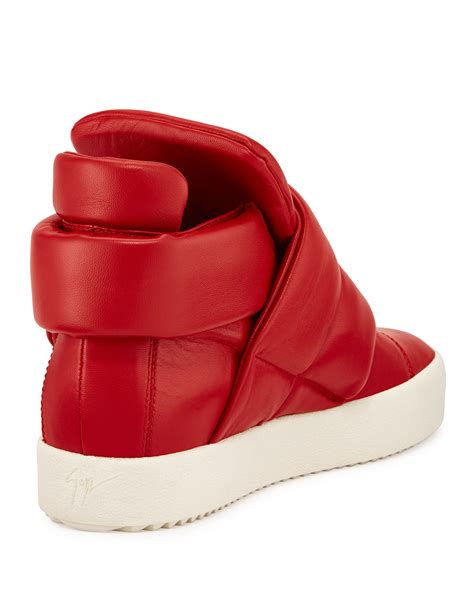 giuseppe zanotti cesar leather high top sneakers in