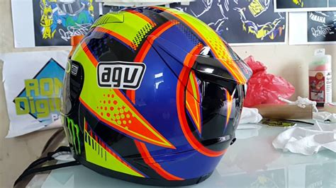 Helm Agv Motif Hasil Pengecatan Helm Kyt R10 Motif Soleluna 2016