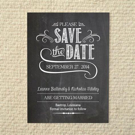 wedding save the date handlettered chalkboard love diy