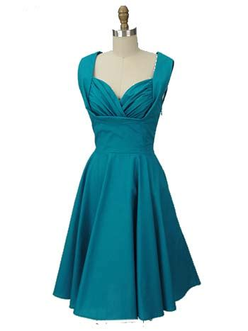 teal swing dress 50s inspired teal blue swing dress trashy diva honey dress