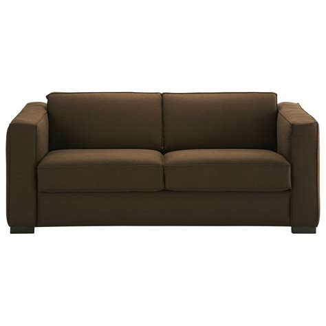 cotton sofas 3 seater cotton sofa bed in chocolate berlin maisons du