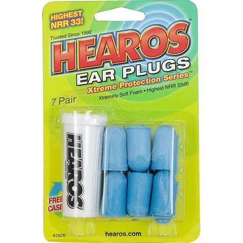 Hearos Protection Ear Plugs 33db Eceran 3 Pair Blue hearos xtreme protection series ear plugs 7 pairs reverb
