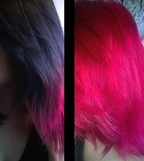 what colors make magenta how i dyed my hair from black to bright magenta