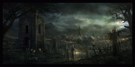 dark village wallpaper darkness at the edge of town by radojavor deviantart com