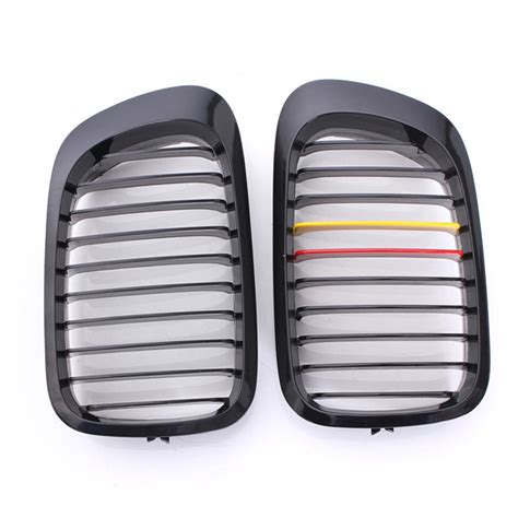 door grille replacement front gloss black m style grilles replacement for bmw e46