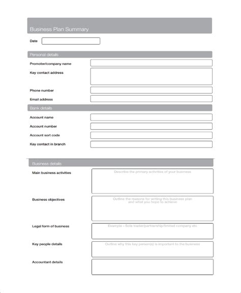 services business template sle service business plan template 7 free documents